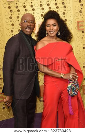 LOS ANGELES - SEP 22:  Courtney B. Vance, Angela Bassett at the Primetime Emmy Awards - Arrivals at the Microsoft Theater on September 22, 2019 in Los Angeles, CA