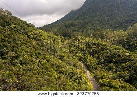 Viiew From Morro Do Bone Trail, Petropolis, Rio De Janeiro, Brazil, On A Partly Cloudy Day, Featurin