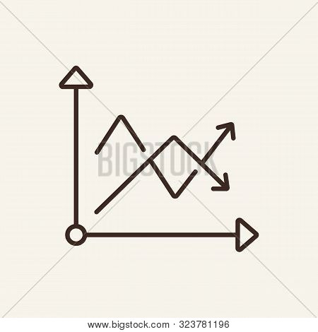 Diagram With Two Crossover Arrows Line Icon. Diagram, Infographics, Index. Graph Concept. Vector Ill