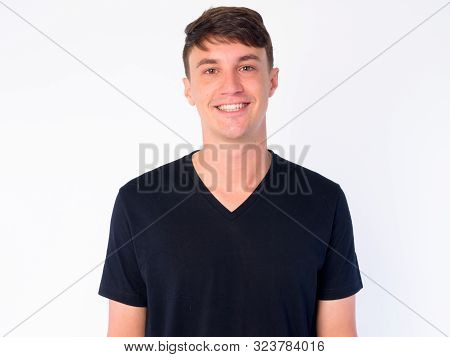 Face Of Happy Young Handsome Man Smiling