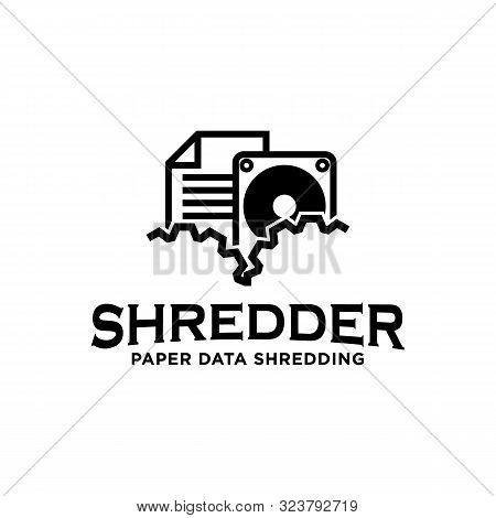 Shredding Services Paper Document Data Hardware Logo Icon