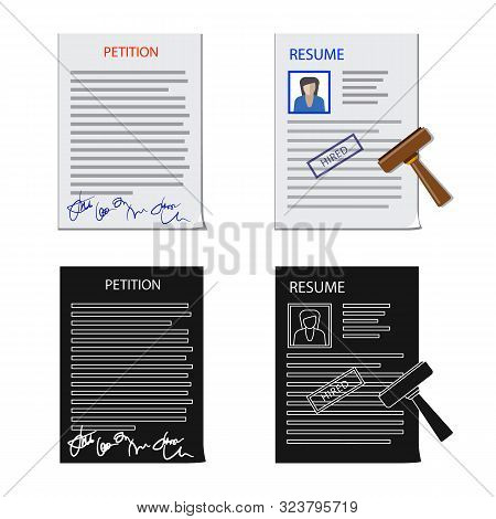 Isolated Object Of Form And Document Icon. Collection Of Form And Mark Stock Vector Illustration.