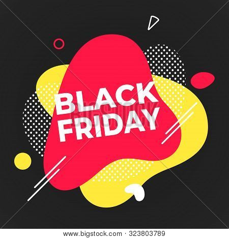 Black Friday Poster Or Banner Design Template Vector Illustration. Sale Shopping Discount Banner For