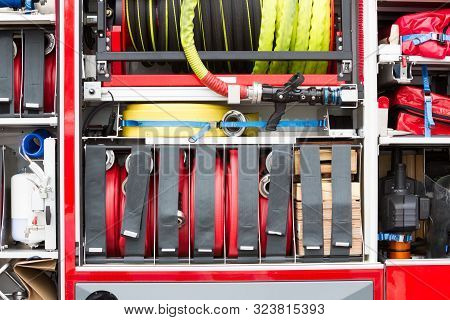 Firetruck Equipment Closeup