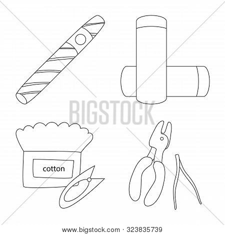 Isolated Object Of Nicotine And Filter Sign. Set Of Nicotine And Pipe Stock Vector Illustration.
