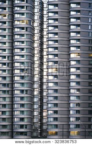 An Exterior Of Residential Apartments In City