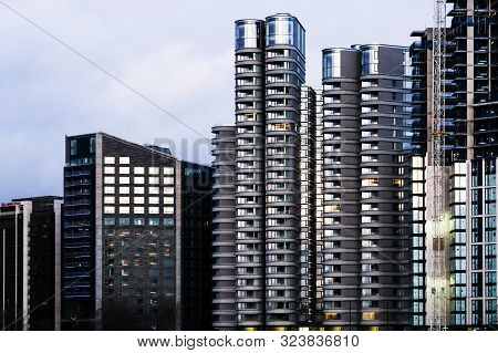 Exterior Of Modern Residential Appartments On The Embankment London