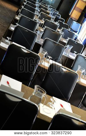 Empty Seating And Place At The Start Of A Conference Or Seminar