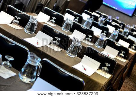 Empty Places At A Business Meeting Conference Or Convention