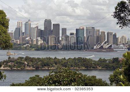 View Of Sydney Harbour From Taronga Zoo, Australia.