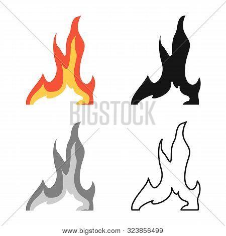 Vector Design Of Bonfire And Ignite Logo. Collection Of Bonfire And Temperature Stock Vector Illustr