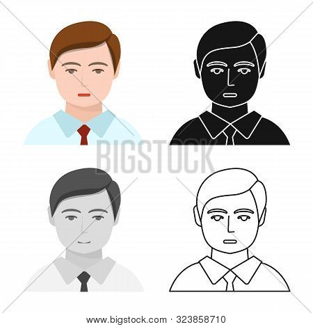 Vector Design Of Boy And Hairdo Logo. Set Of Boy And Young Stock Vector Illustration.