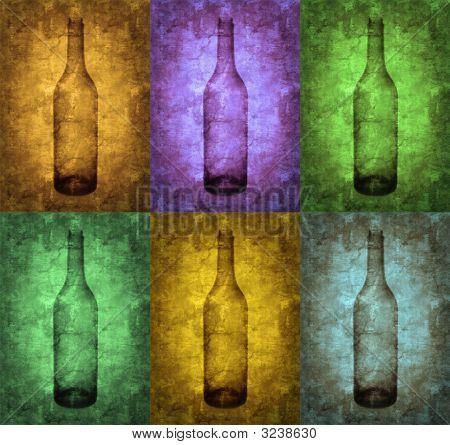 Grunge Bottles Illustration