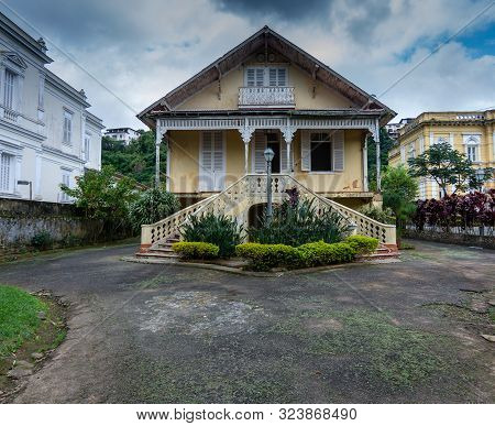 Petropolis, Rio De Janeiro, Brazil- May 17, 2018:  House Belonging To The Rio Negro Palace Complex,