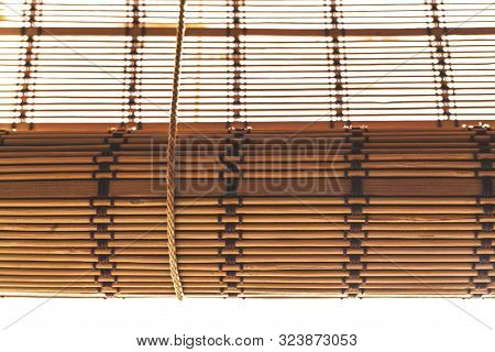 Bamboo Roller Blinds In Brown Color. Bamboo Product