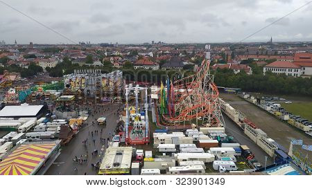 Munich, Germany, September 23, 2019 People From All Over The World Attending Oktoberfest 2019 In The