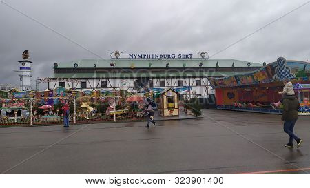Munich, Germany, September 23, 2019 Thrill Ride In Oktoberfest 2019 In Theresienwiese Area, Munich,