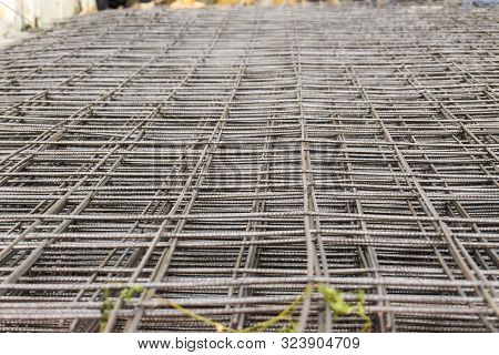 RB Metal round bar grill make floor building poster