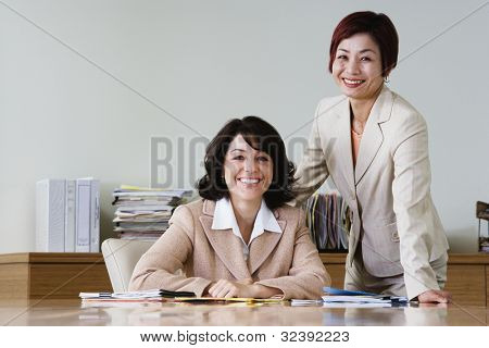 Portrait of businesswomen in conference room