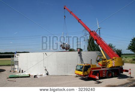 Building Site Of Biogas Plant