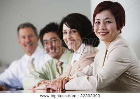 Portrait of businesspeople in conference room