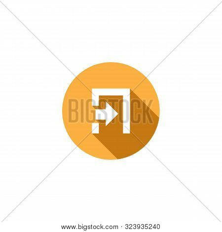 Exit Icon. Exit Icon Vector Flat Illustration For Graphic And Web Design Isolated  From Essential Co