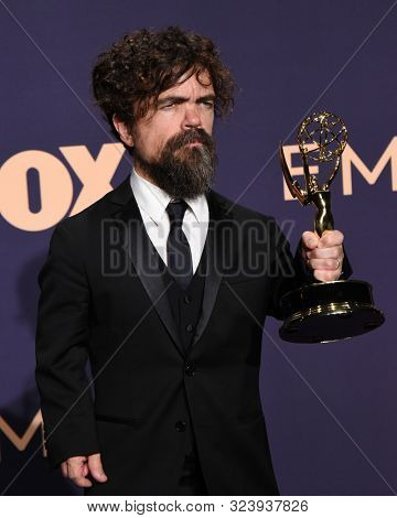 LOS ANGELES - SEP 22:  Peter Dinklage at the Emmy Awards 2019: PRESS ROOM at the Microsoft Theater on September 22, 2019 in Los Angeles, CA