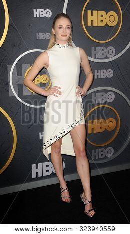 Sophie Turner at the HBO's Official 2019 Emmy After Party held at the Pacific Design Center in West Hollywood, USA on September 22, 2019.