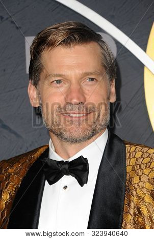 Nikolaj Coster-Waldau at the HBO's Official 2019 Emmy After Party held at the Pacific Design Center in West Hollywood, USA on September 22, 2019.