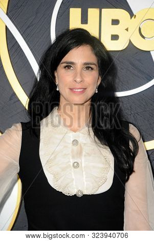 Sarah Silverman at the HBO's Official 2019 Emmy After Party held at the Pacific Design Center in West Hollywood, USA on September 22, 2019.