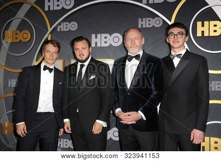 Isaac Hempstead Wright, Liam Cunningham, John Bradley and Alfie Allen at the HBO's Official 2019 Emmy After Party held at the Pacific Design Center in West Hollywood, USA on September 22, 2019.