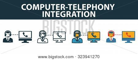 Computer-telephony Integration Icon Set. Premium Symbol In Different Styles From Customer Service Ic