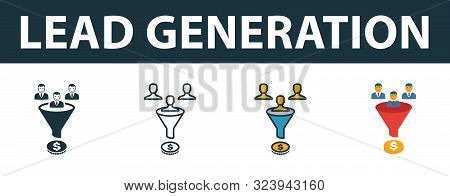 Lead Generation Icon Set. Premium Symbol In Diferent Styles From Crm Icons Collection. Creative Lead