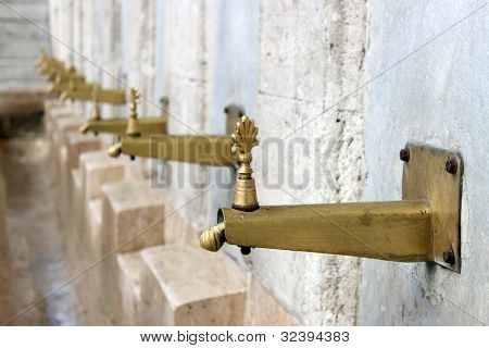 Ablutions Place In The New Mosque Istanbul