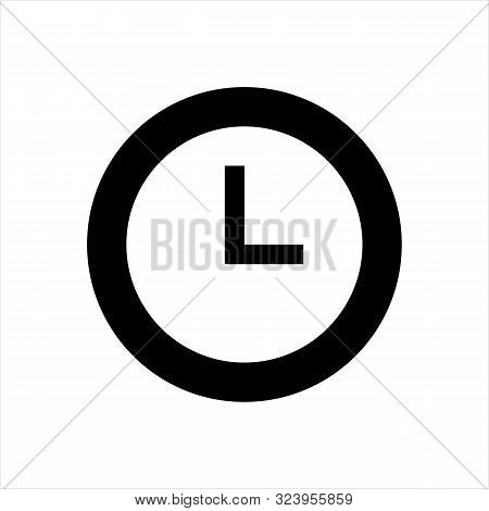 Clock Icon Isolated On White Background. Clock Icon In Trendy Design Style. Clock Vector Icon Modern