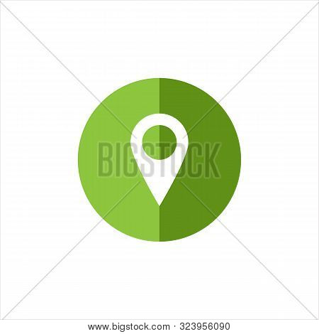 Green Map Picker Icon Isolated On White Background. Pin Icon . Point Icon