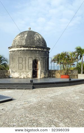 Sentry Box Lookout The Wall Cartagena Colombia South America