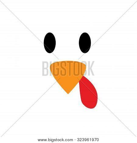 Thanksgiving Day. Vector Turkey Bird Pattern Seamless Background. Turkey Bird Background Eyes And Be