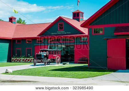 Mackinac Island Mi /usa - July 9th 2016: Carriage Museum On Mackinac Island