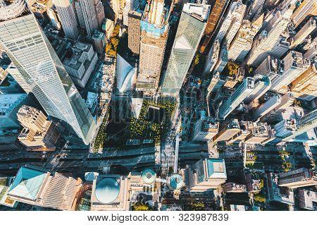 New York - July 02 2016: Aerial View Of One World Trade Center, Manhattan, New York
