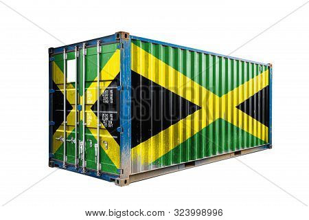 The Concept Of  Jamaica Export-import, Container Transporting And National Delivery Of Goods. The Tr