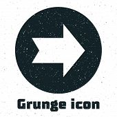 Grunge Arrow icon isolated on white background. Direction Arrowhead symbol. Navigation pointer sign. Vector Illustration poster