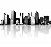 highly detailed image of cityscape - new york city skyline poster