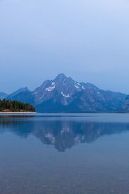 Early Morning In Colter Bay Village In Grand Teton National Park Wyoming