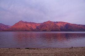 Sunrise Over Jackson Lake In Colter Bay Village In Grand Teton National Park Wyoming