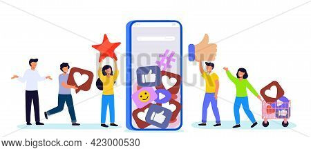 Like Time Concept Of Referral Marketing Refer Friend Loyalty Program Promotion Method People Liking