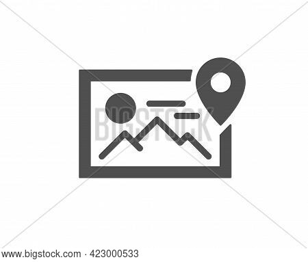 Photo Location Simple Icon. Image Thumbnail Sign. Picture Placeholder Symbol. Classic Flat Style. Qu
