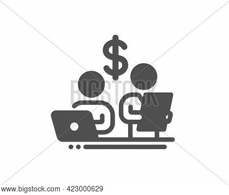 Budget Accounting Simple Icon. Money Investment Sign. Stock Shares Traders Symbol. Classic Flat Styl
