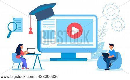 Professional Training Webinar Online Business Courses Presentation Education Video Tutorial Vector F