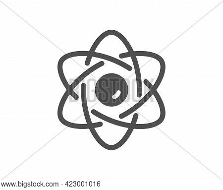 Atom Core Simple Icon. Nuclear Power Sign. Nucleus Energy Symbol. Classic Flat Style. Quality Design